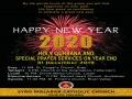 ഡബ്ലിൻ സീറോ മലബാർ സഭയുടെ അഞ്ച് കുർബാന സെൻ്ററുകളിൽ ഇന്ന് വിശുദ്ധ കുർബാനയും വർഷാവസാന പ്രാർത്ഥനയും
